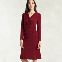 Red Gather Dress - https://kayme.com/ahaa-red-gathered-dress.html