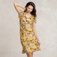 Dramatic Yellow Ruffle Dress - https://kayme.com/aijc-yellow-ruffle-dress.html