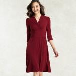 Red Cache-coeur Dress - https://kayme.com/dresses/ahji-red-cache-coeur-dress.html